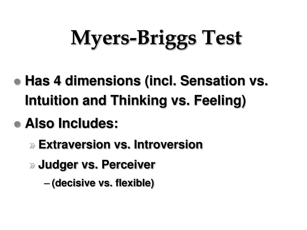 Myers-Briggs Test
