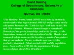 david deming college of geosciences university of oklahoma norman ok 730191