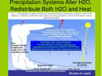 precipitation systems alter h2o redistribute both h2o and heat