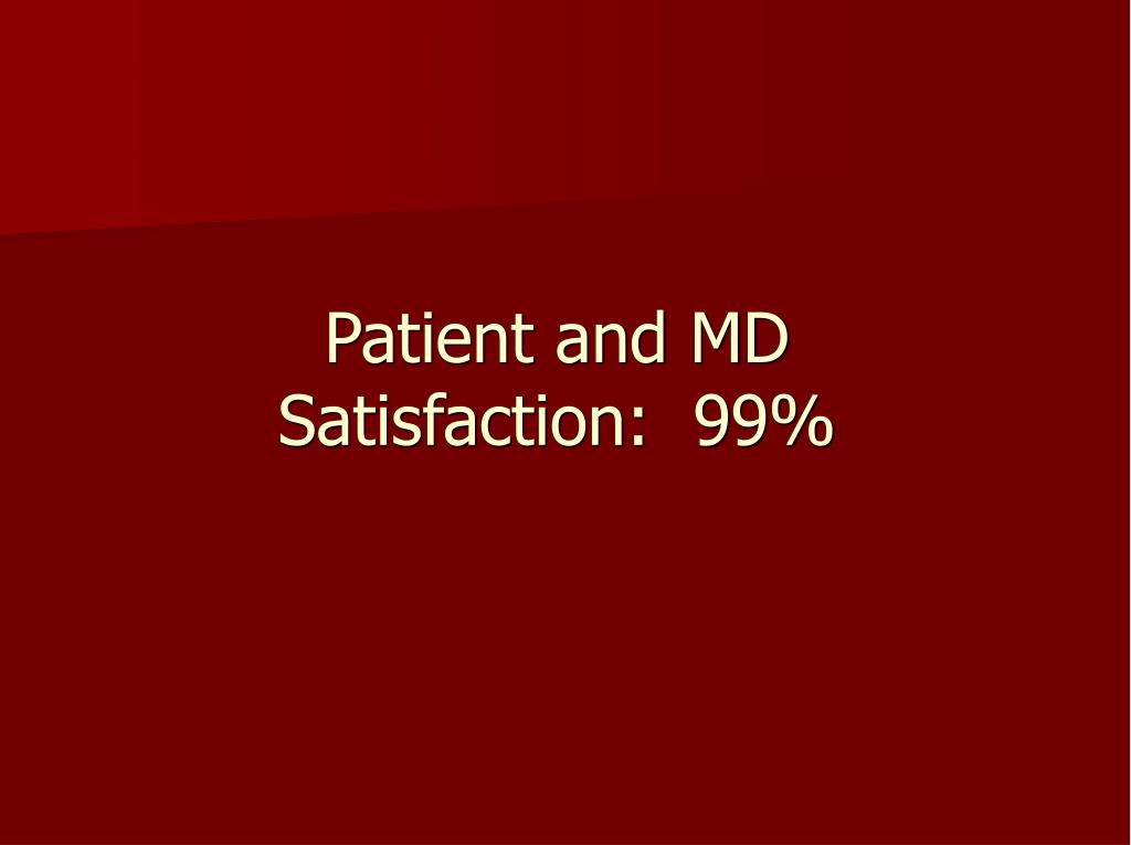 Patient and MD