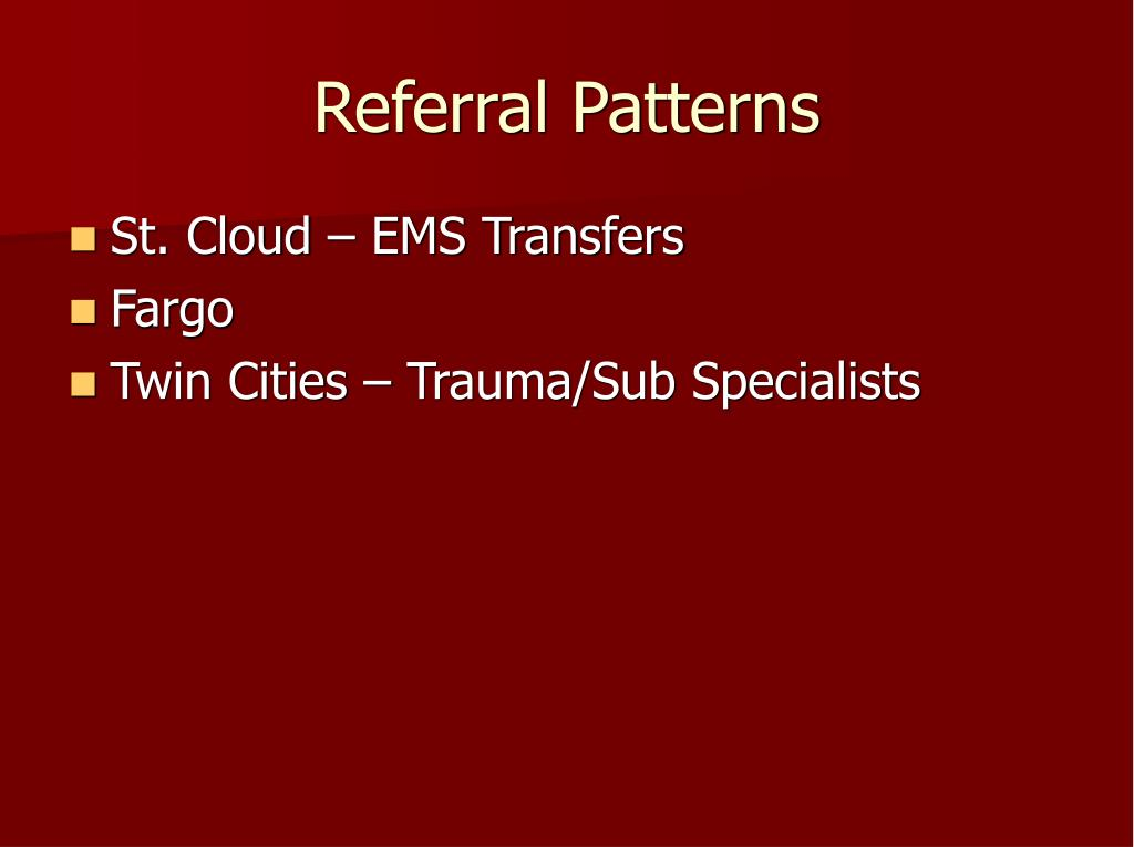 Referral Patterns