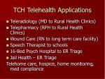 tch telehealth applications