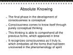 absolute knowing