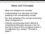 ideas and concepts