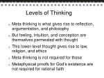 levels of thinking