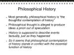 philosophical history