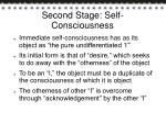 second stage self consciousness
