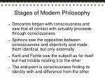 stages of modern philosophy