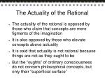 the actuality of the rational