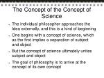 the concept of the concept of science