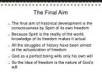 the final aim