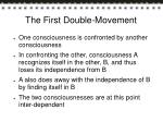 the first double movement