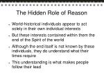 the hidden role of reason