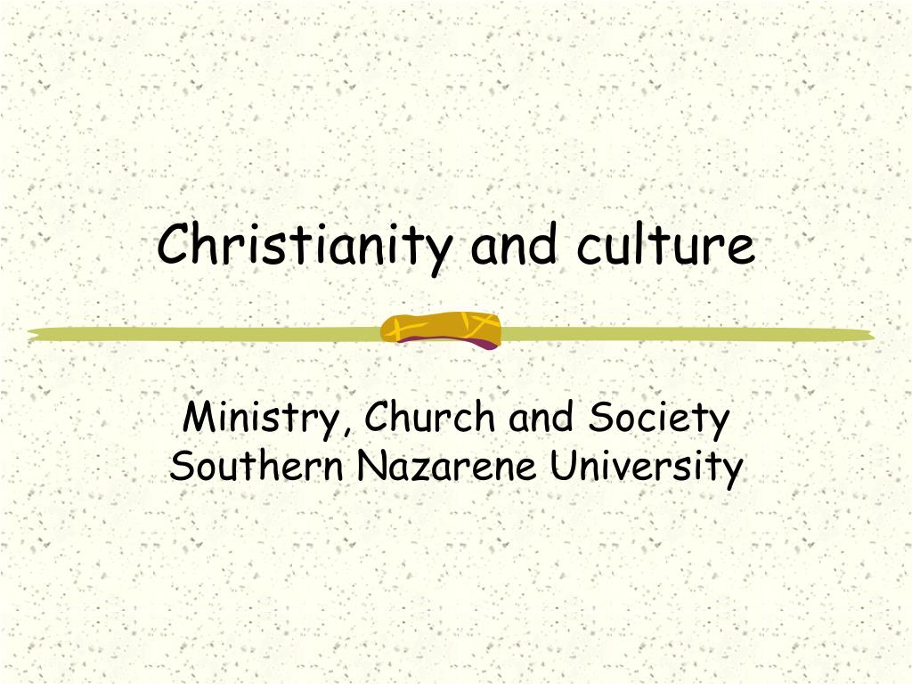 christianity and culture l.