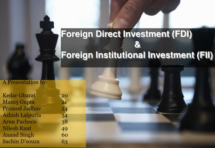 foreign direct investment fdi foreign institutional investment fii n.