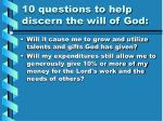 10 questions to help discern the will of god10