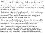what is christianity what is science