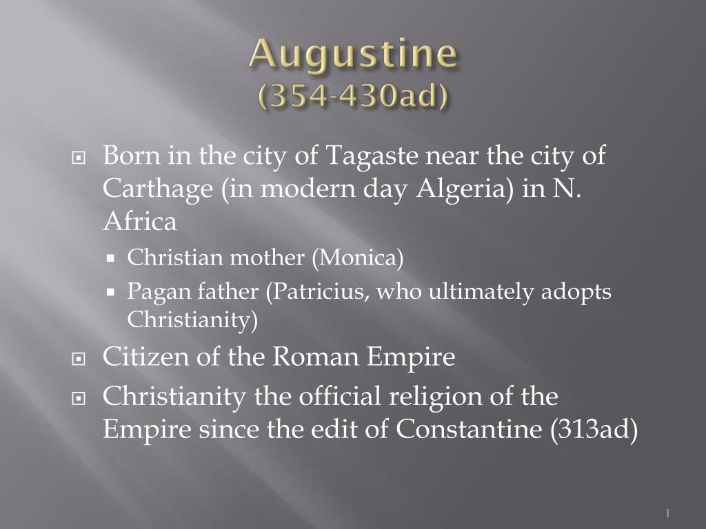 augustine 354 430ad l.