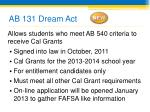 ab 131 dream act