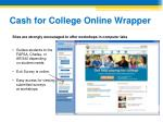cash for college online wrapper