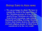bishop sako to asia news