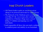 iraqi church leaders