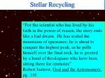 stellar recycling22