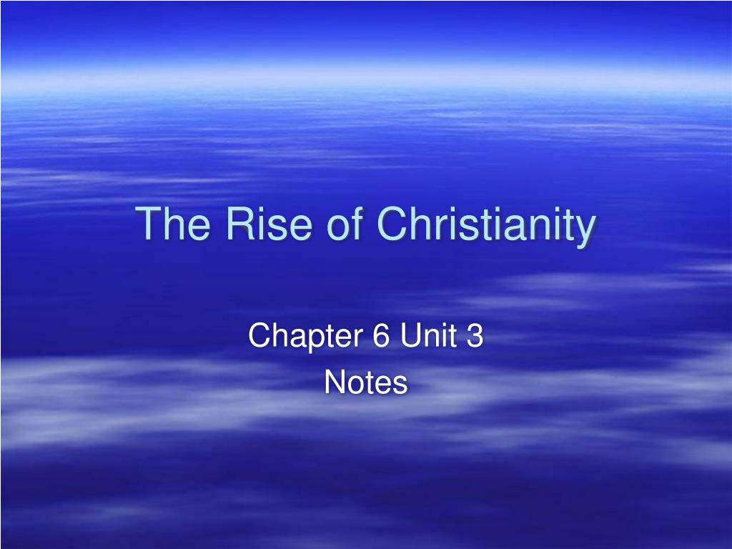 the rise of christianity l.