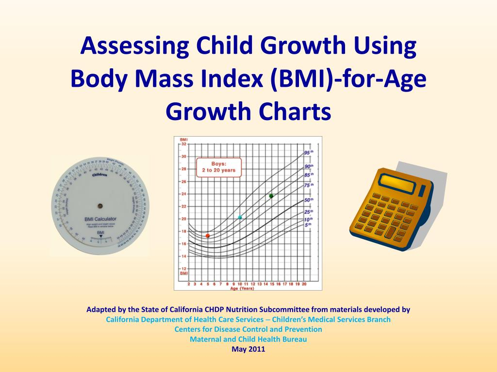 Ppt Assessing Child Growth Using Body Mass Index Bmi For Age
