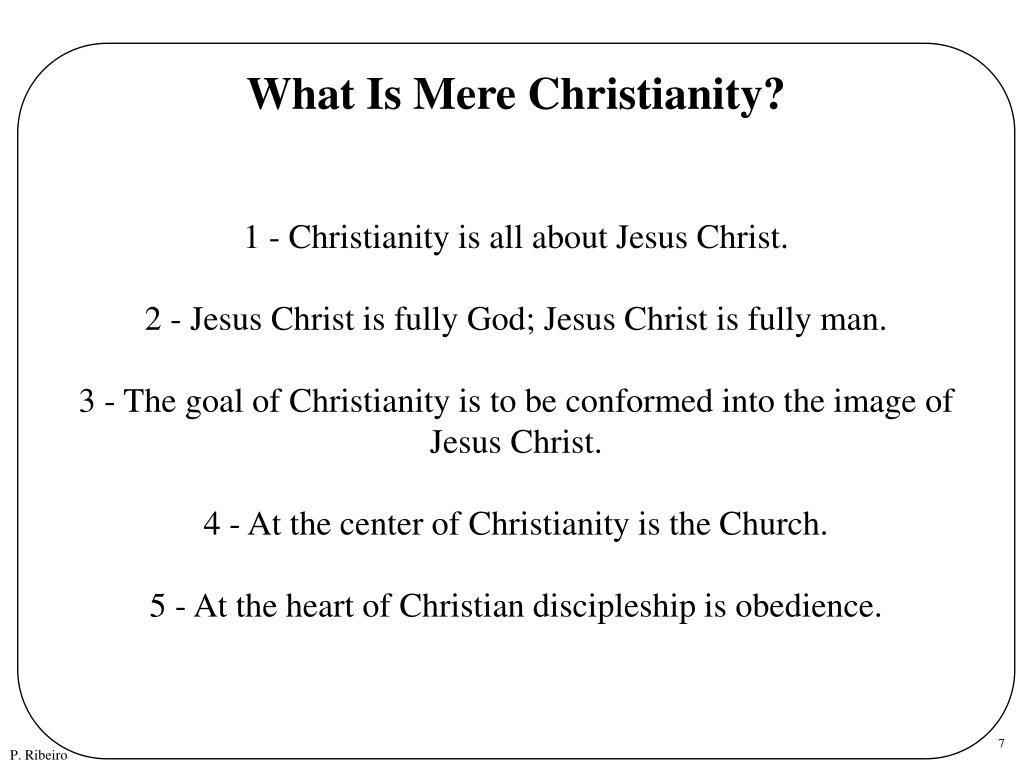What Is Mere Christianity?