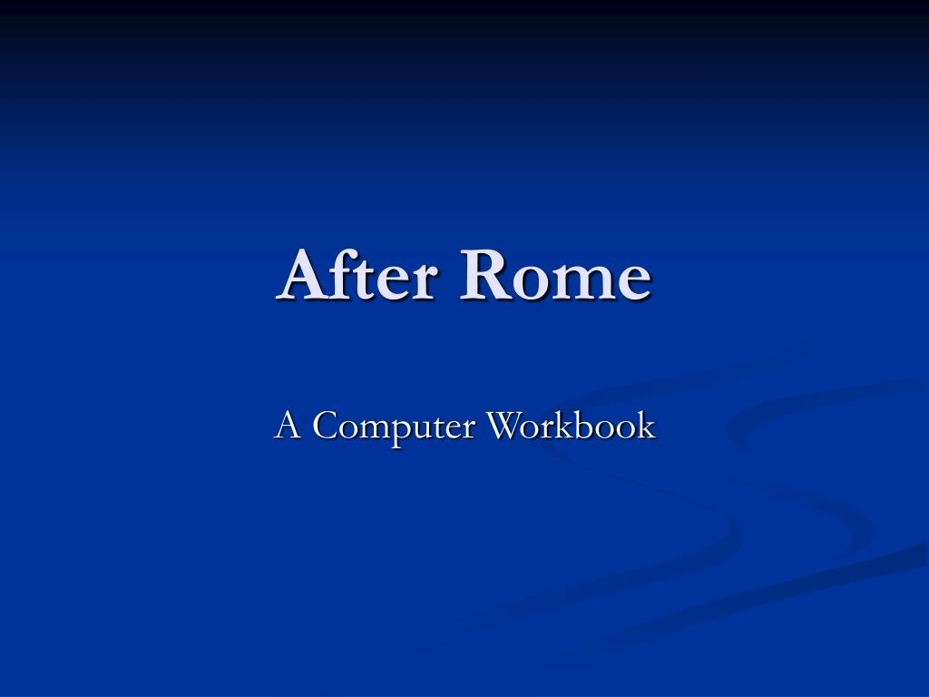 after rome l.