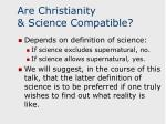are christianity science compatible
