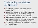 christianity on matters re science16