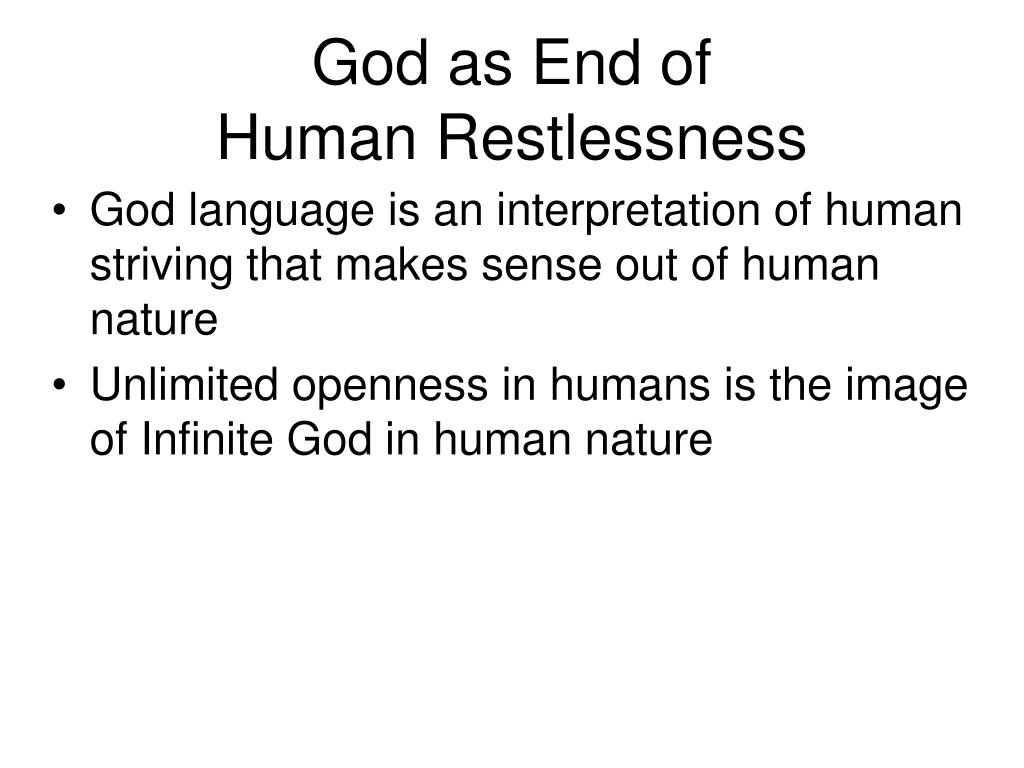 God as End of