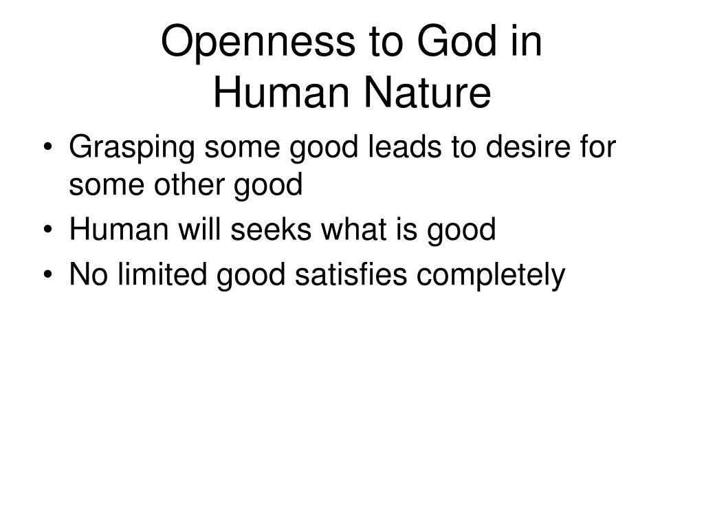 Openness to God in