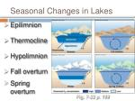 seasonal changes in lakes
