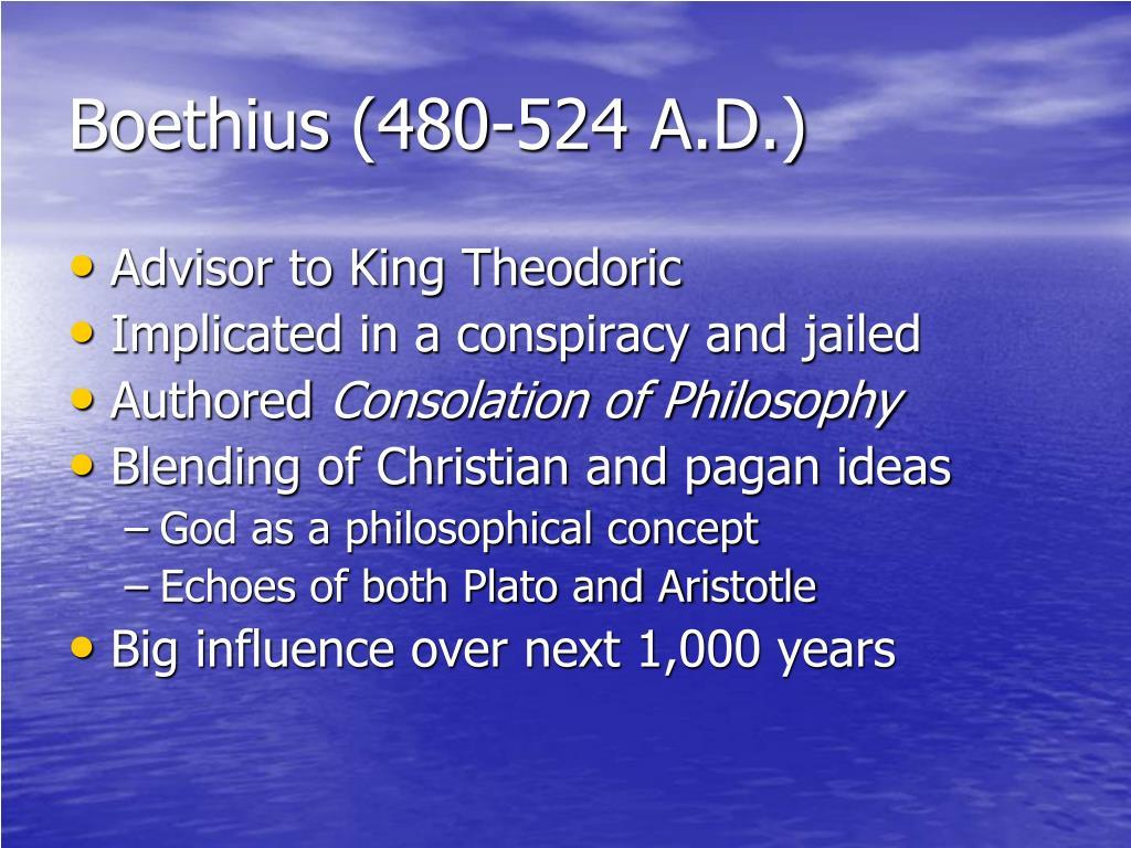 Boethius (480-524 A.D.)