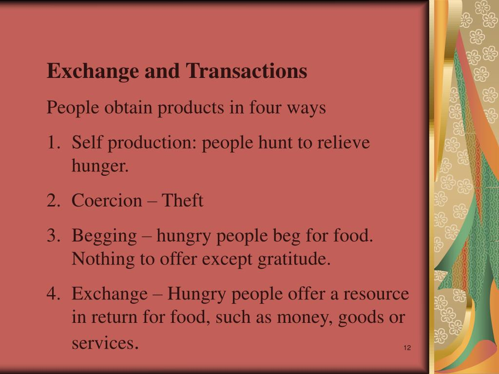 Exchange and Transactions