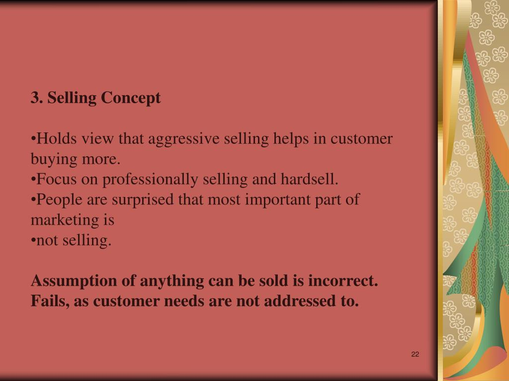 3. Selling Concept