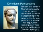 domitian s persecutions