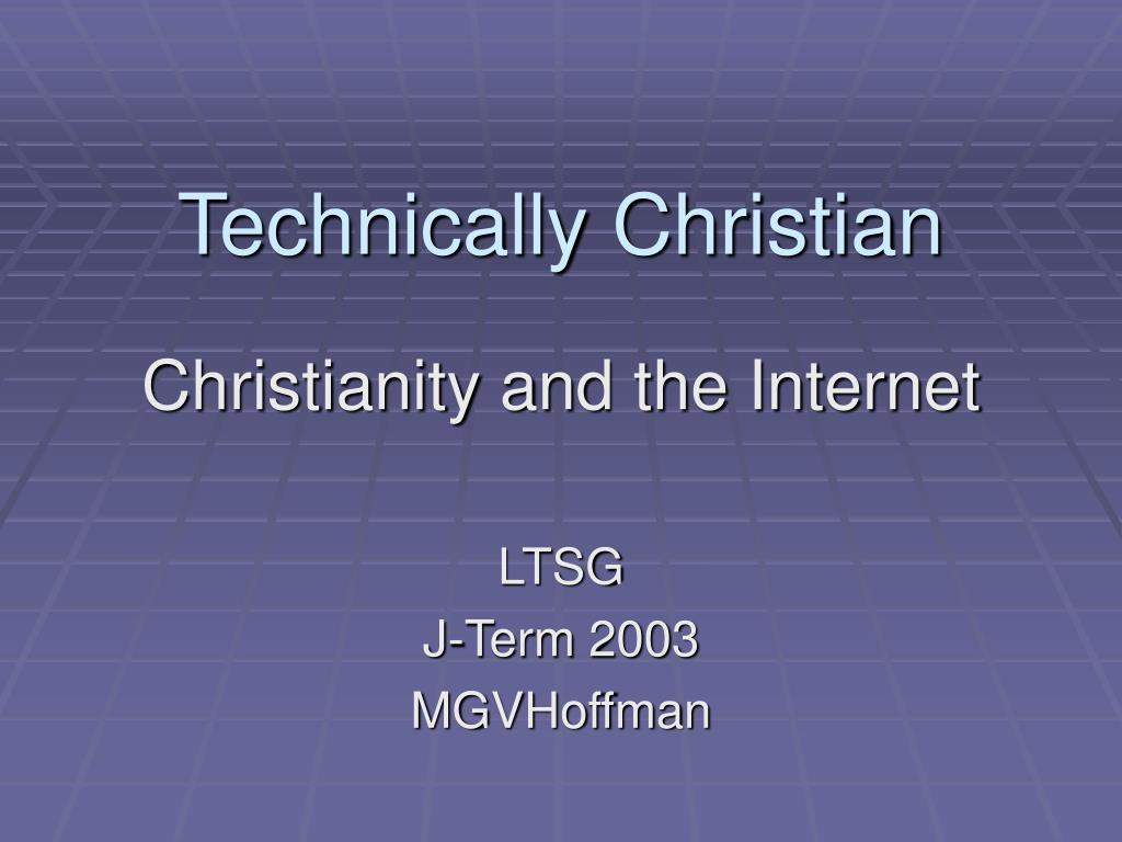 technically christian l.