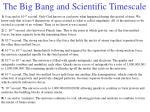 the big bang and scientific timescale