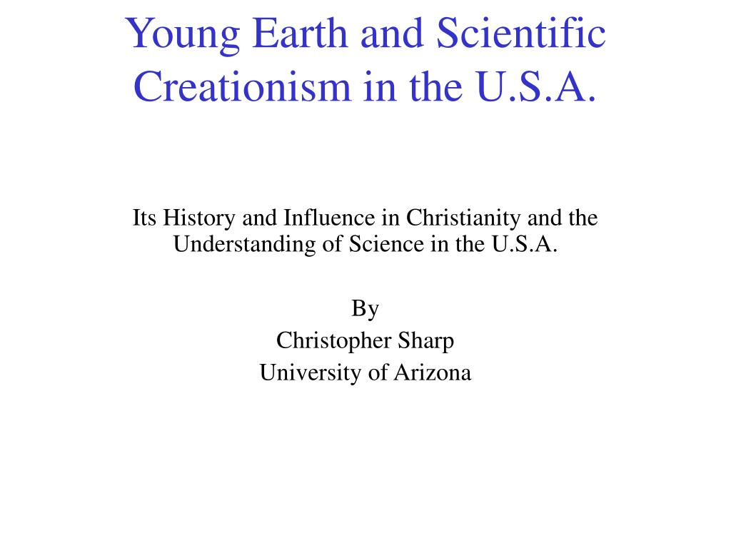 young earth and scientific creationism in the u s a l.