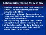laboratories testing for ai in ca