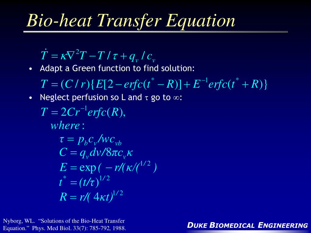Bio-heat Transfer Equation