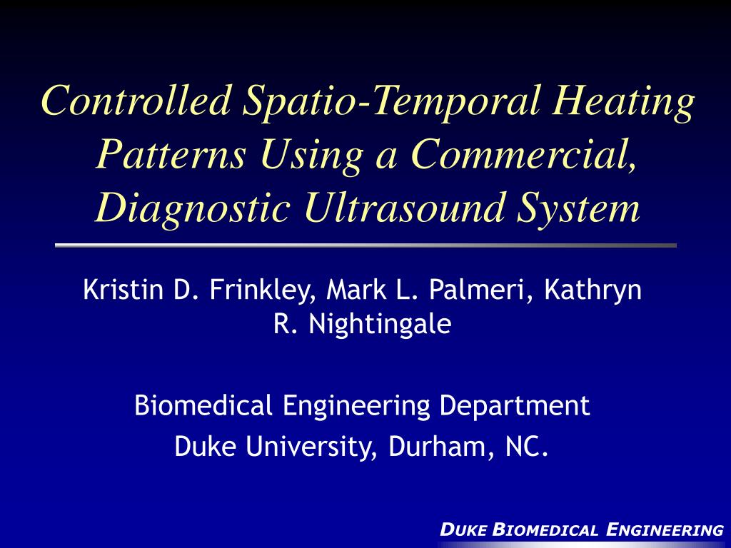 Controlled Spatio-Temporal Heating Patterns Using a Commercial, Diagnostic Ultrasound System