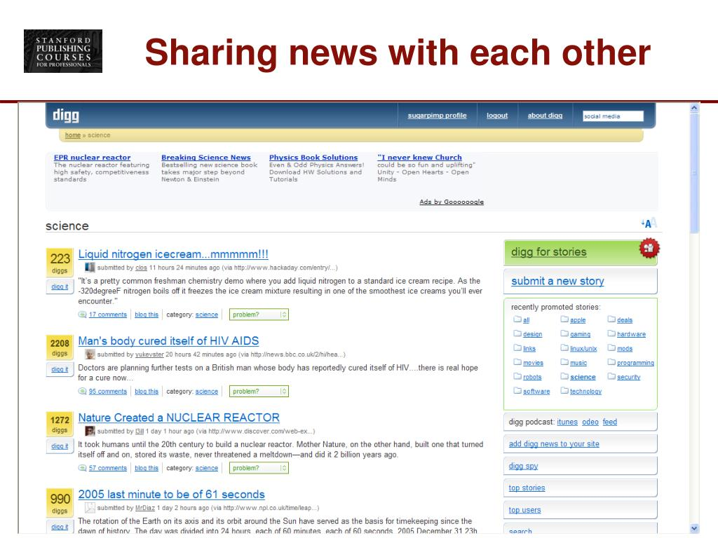 Sharing news with each other