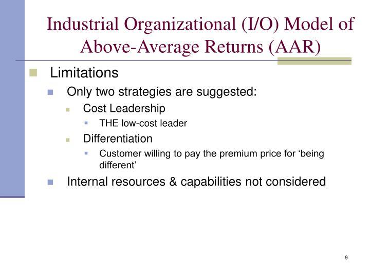 Industrial Organizational (I/O) Model of