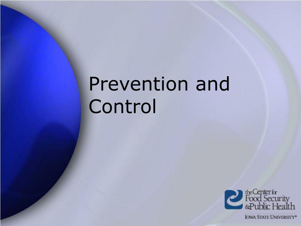 Prevention and Control