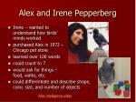 alex and irene pepperberg